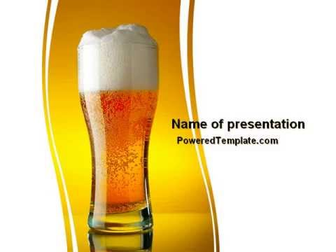 Goblet of beer foaming powerpoint template by poweredtemplate goblet of beer foaming powerpoint template by poweredtemplate youtube toneelgroepblik Choice Image