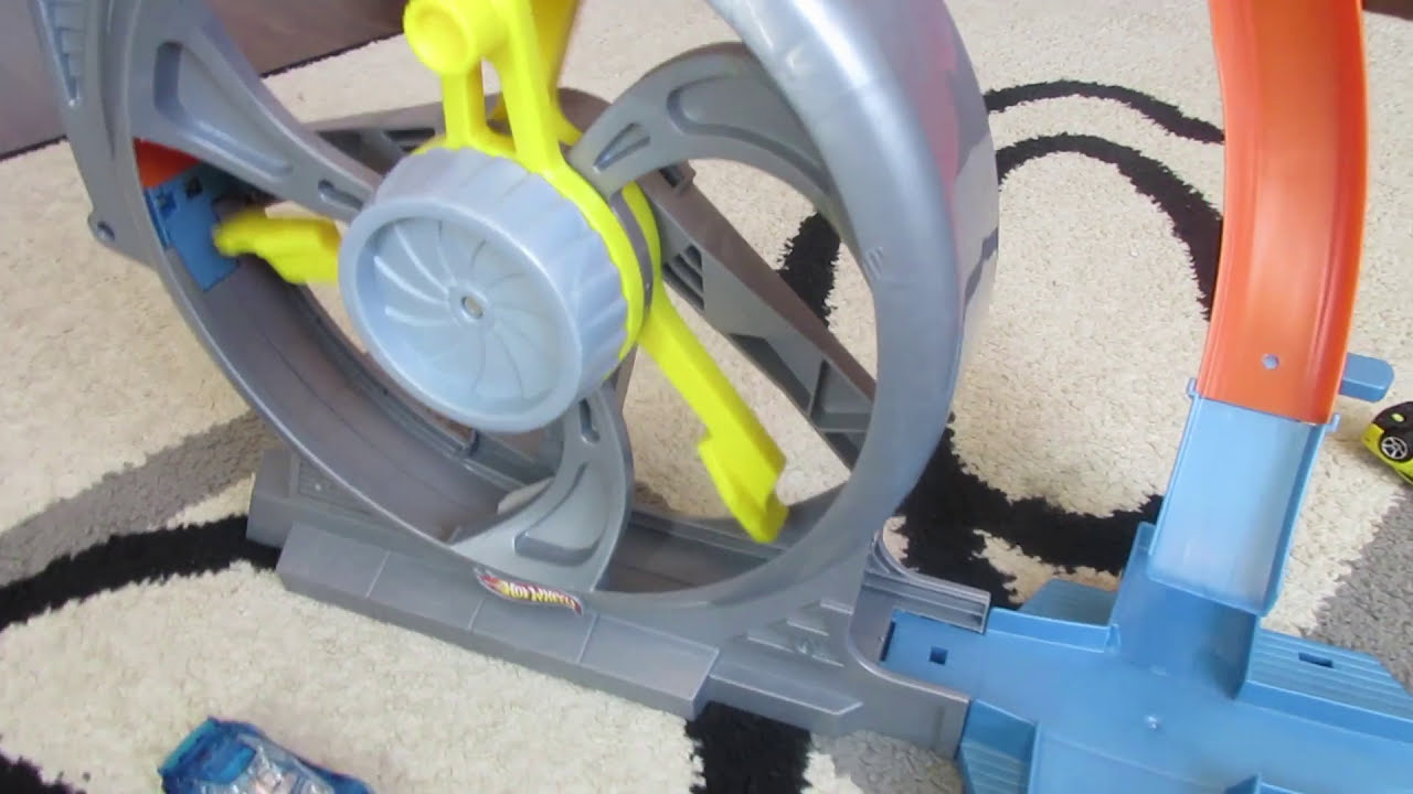 Hot Wheels Turbine Twister Track Set Review Youtube
