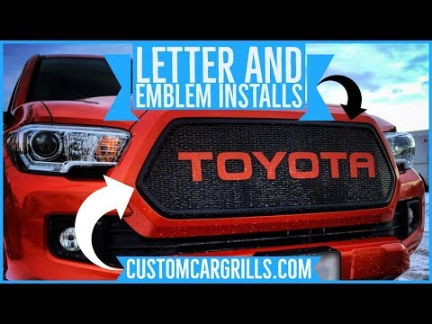 Grill Letters, Emblem, and Logo Installations on Mesh by customcargrills.com