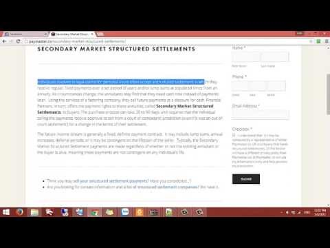 sell your structured settlement || Cash for your structured payment