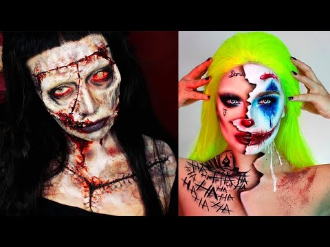 Top 5 Halloween Makeup Tutorials 👻 Scary Special Effects Makeup Joker, Pennywise, Zombie