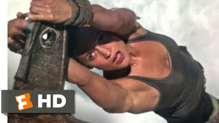 Tomb Raider (2018) - Down a Waterfall Scene (4/10) | Movieclips