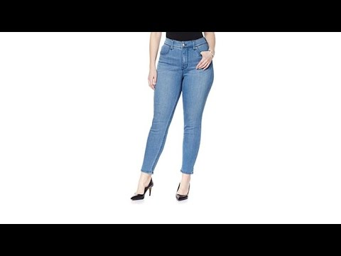 Melissa McCarthy Seven7 Stretch Pencil Jean. http://bit.ly/2WDEyq3