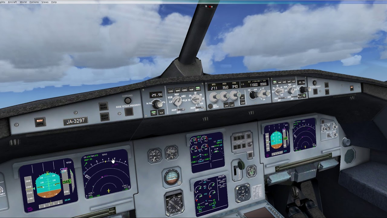 Flying an Airbus A321 in FSX