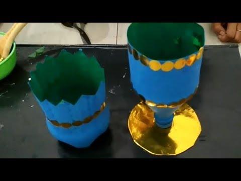 Cara Membuat Pot Bunga Indah Dari Botol Bekas Youtube