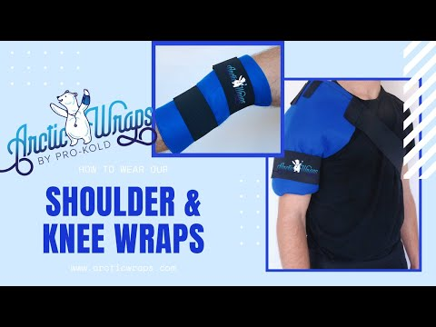 Arctic Wraps Universal Knee & Shoulder Ice Wrap Try-On