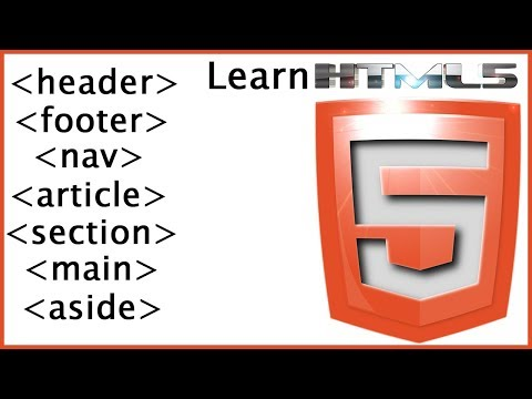 HTML5 Semantic Markup Tags & Layout - HTML Tutorial For Beginners