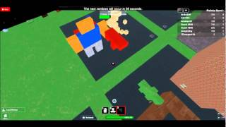 roblox buil to survive the zombie giant zombie noob + gun by drako549