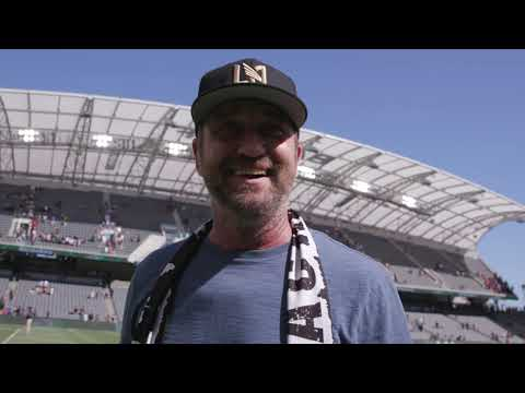 Gerard Butler Loves LAFC Games at Banc of California Stadium
