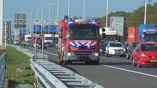 Brandweer, Politie & Ambulance met spoed naar een ongeval Kilweg Barendrecht!