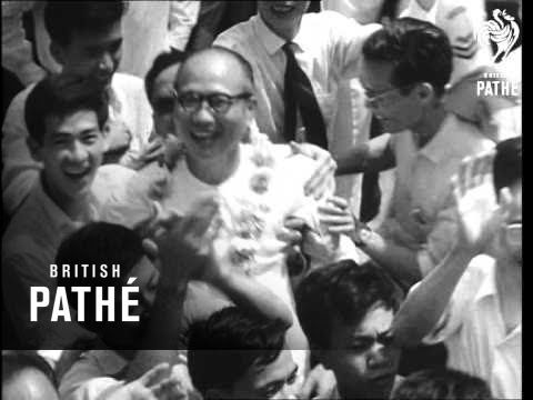 Vietnamese Prisoners Released In Saigon And Students Twist (1963)