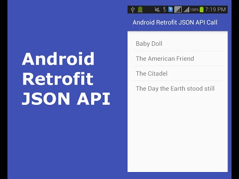 ANDROID RETROFIT JSON API CALL