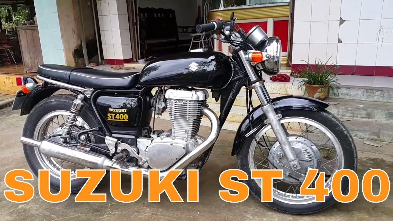Suzuki ST 400 – 1 xy lanh gần gấp đôi Z1000 (400cc) quá dữ.