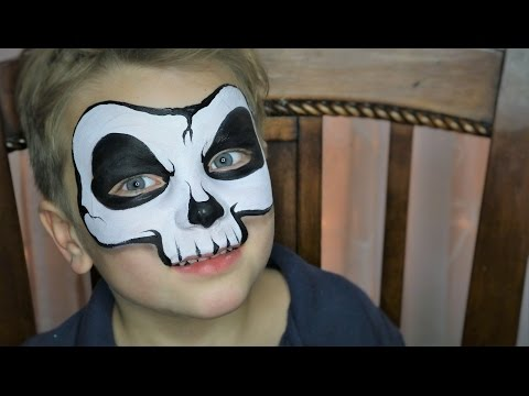 Easy Skull Face Painting / Makeup