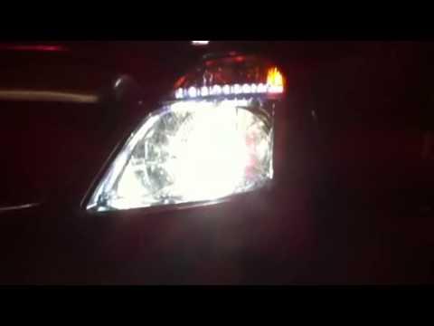 2006 Prius Headlight With Morimoto Mini H1 And Led Strip