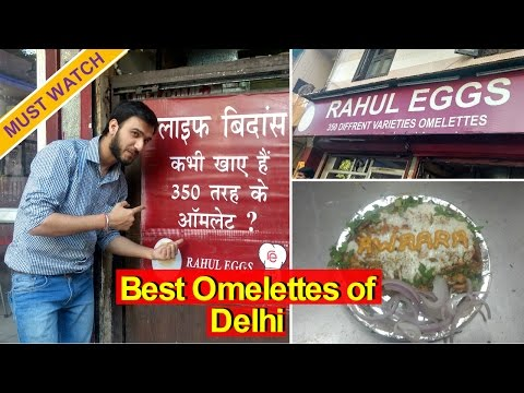 Rahul Eggs | 350 Omelettes @ 1 Shop | Delhi Special Street Food