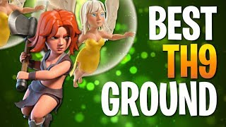 BEST TH9 Ground Attack Strategies of 2018 - CLASH OF CLANS