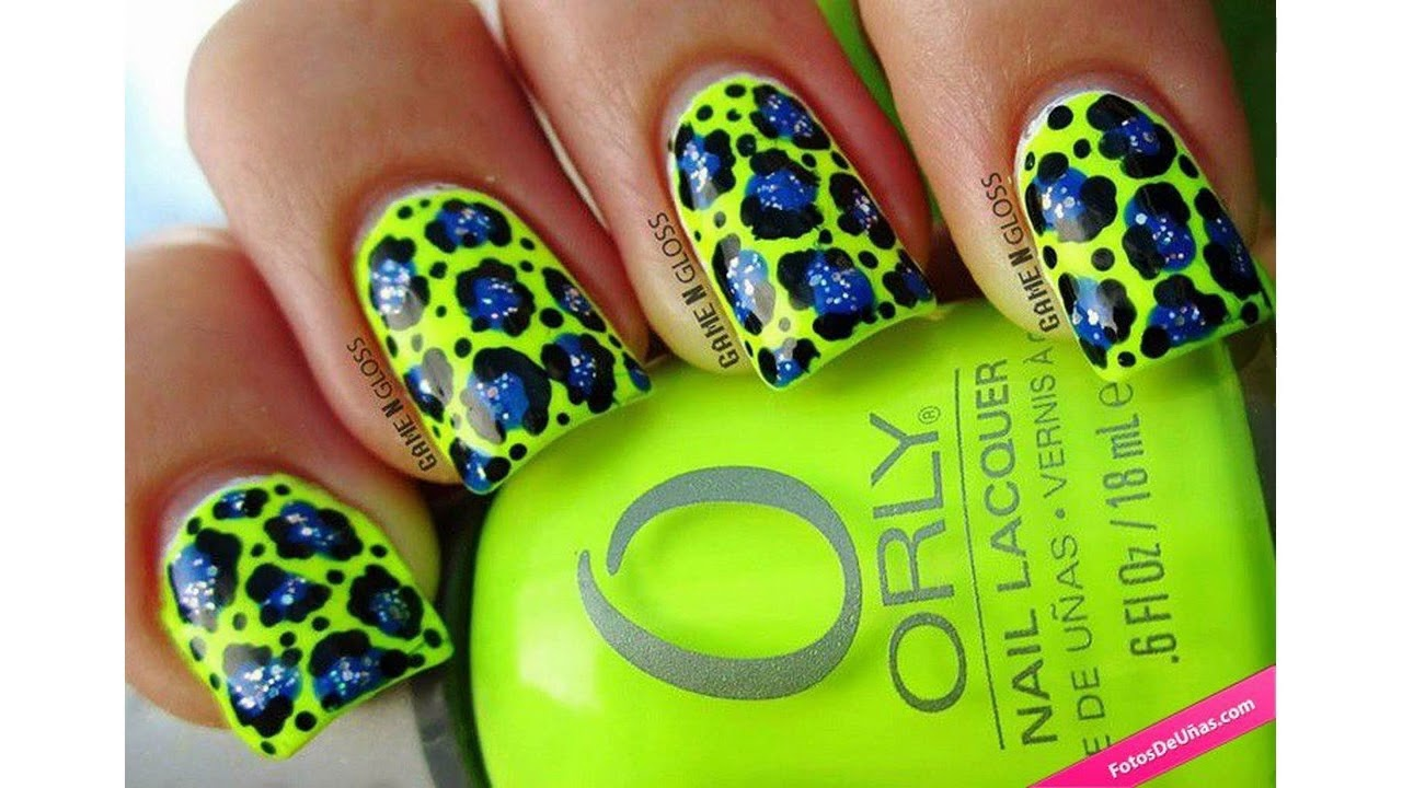 Las últimas tendencias de Uñas decoradas con colores neon - YouTube