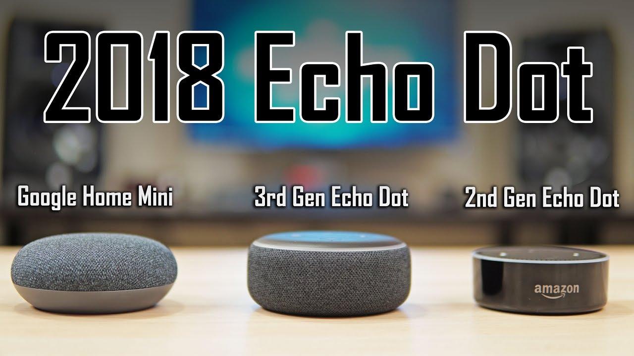 2018 echo dot review new echo dot vs google home mini. Black Bedroom Furniture Sets. Home Design Ideas