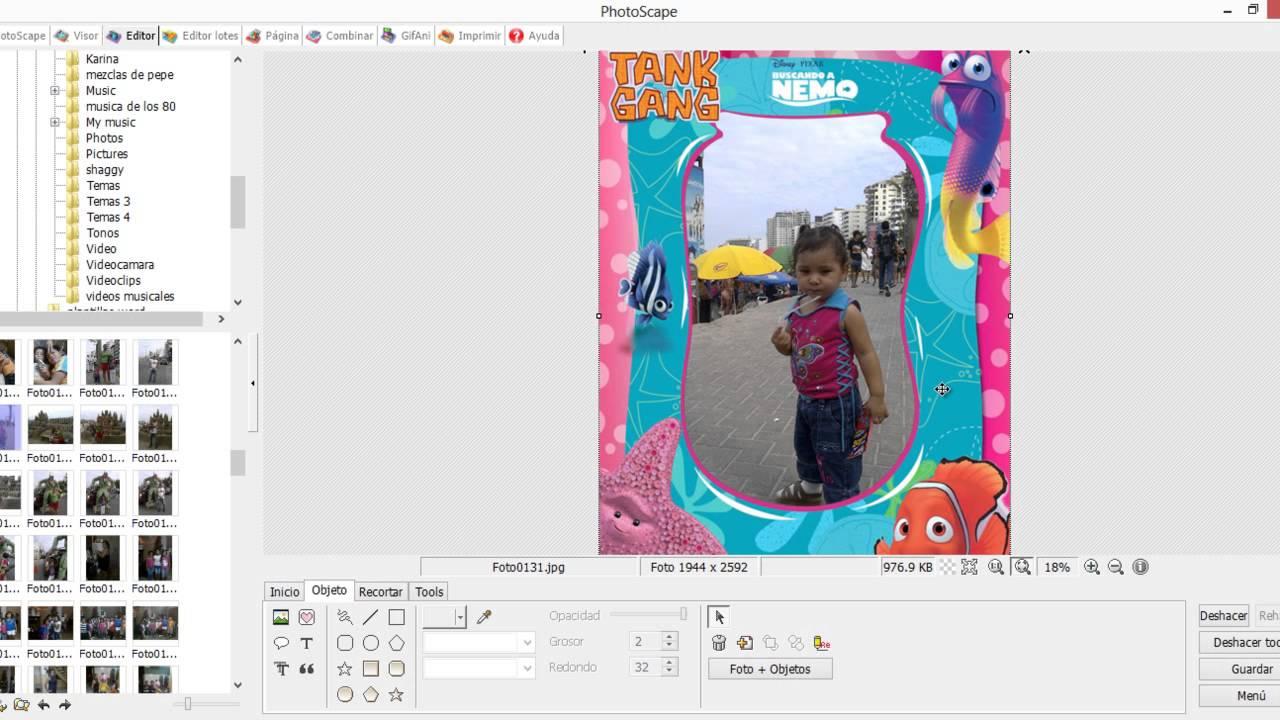 como poner marcos a tus fotos y descargar gratis marcos - YouTube