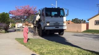 Toddlers love street sweepers