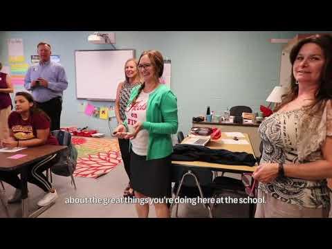 Ms. Brantley at Robertsdale High School Wins Treat A Teacher!