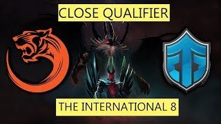 GAME IS HARD! TNC TIGER VS ENTITY GAMING - TI8 CLOSE QUALIFIERS