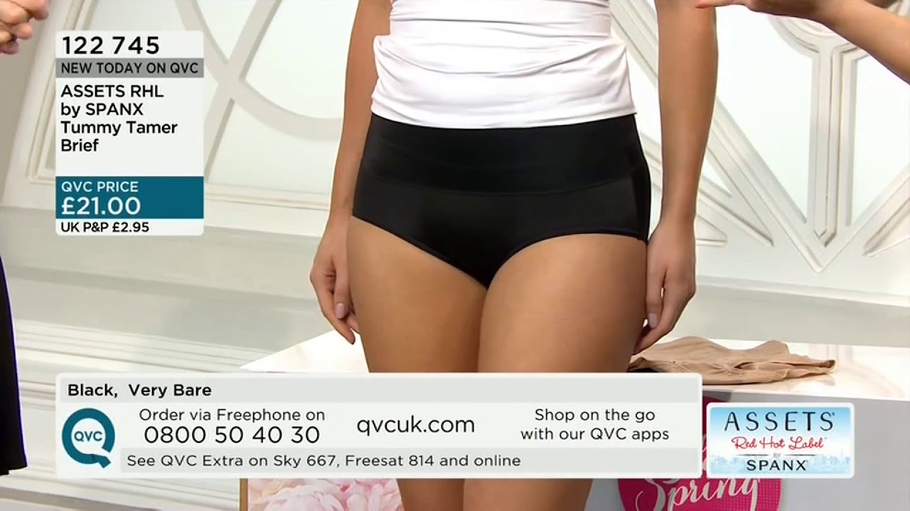 f0859b6f62 QVC UK Model Sally modelling shapewear with Claire Sutton 070414 ...