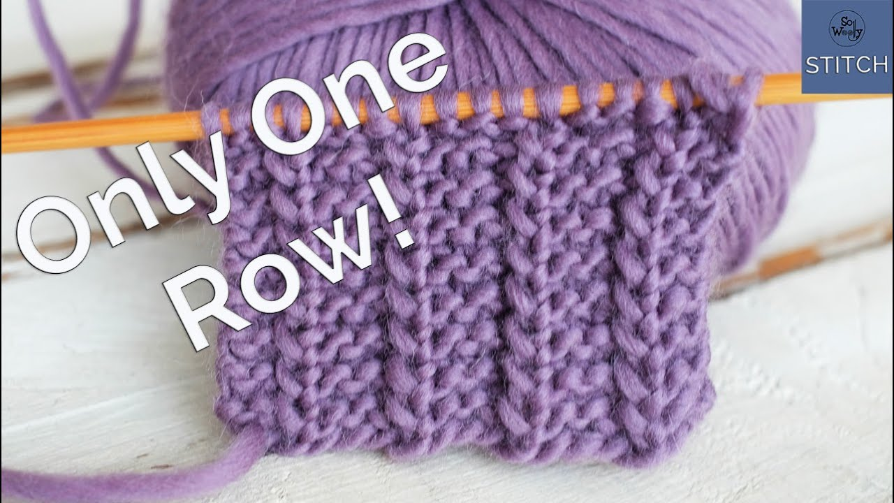 One Row Knitting Stitch Easy Reversible And It Doesn T