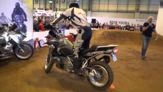 The BMW GS Off Road Skills Demo at Motorcycle Live