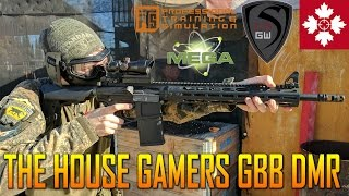 THE HOUSE GAMERS GBB DMR MEGA ARMS 308  | SPARTAN117GW