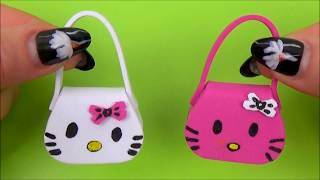 Diy Miniature Bag │ Diy Miniature Purse With Hello Kitty │ Doll Stuff