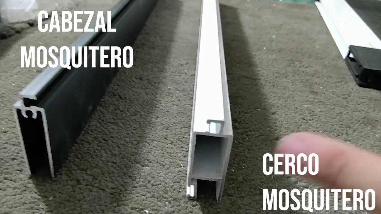Como hacer un mosquitero de aluminio muy fácil.
