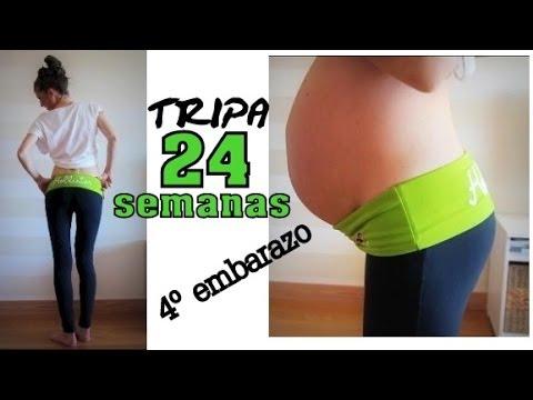 a571c2593 Tripa 24 semanas embarazo   24 weeks pregnant belly - YouTube