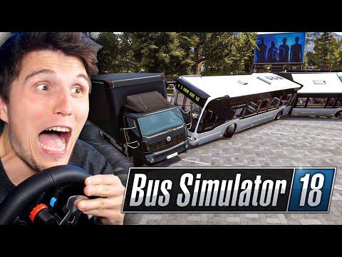 Ich fahre zum ersten Mal einen Mercedes GELENKBUS!   Bus Simulator mit Lenkrad