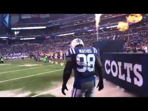 Robert Mathis Comes out of the tunnel for Final Time