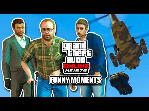 GTA Online Heists - Funny Moments #1 - Sub-Evo, NFS Getaway, Anime Girl (w/Andy)