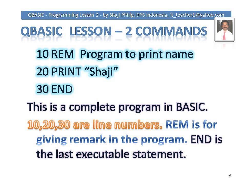 Qbasic Basic Programming Lesson For Beginners Let Print Lprint