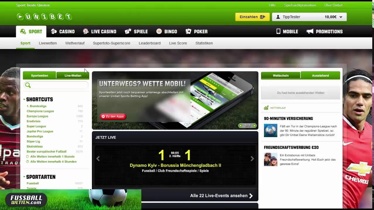 Fußballwetten Online