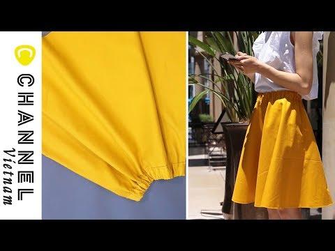 DIY: May Chân Váy Xoè Circle Skirt