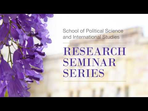 Research Seminar Series, Semester 1 2017, John Parkinson
