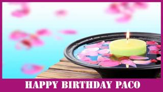 Paco   Birthday Spa - Happy Birthday