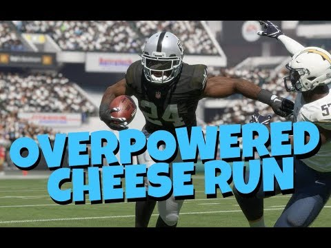 RARE OVERPOWERED CHEESE RUN FORMATION! BEST RUN MONEY PLAY IN MADDEN 18! RAIDERS PLAYBOOK TIPS
