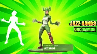Fortnite JAZZ HANDS Emote! (With Leaked Skins!)