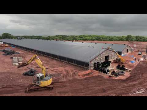 Timelapse video of poultry project, Shropshire, UK