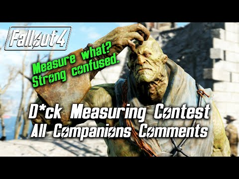 Fallout 4 - Dick Measuring Contest - All Companions Comments