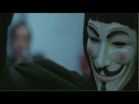 «V» значит Вендетта! Гай Фокс! Anonymous!HD 720!