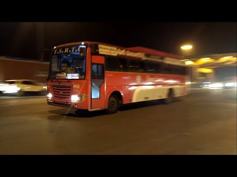 TSRTC SUPER LUXURY going towards Hyderabad.