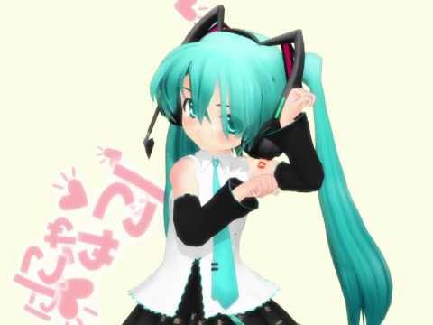 Chibi Miku Hatsune Nyanyanyanyanyanyanya!【VOCALOID MMD】【Nya♥】