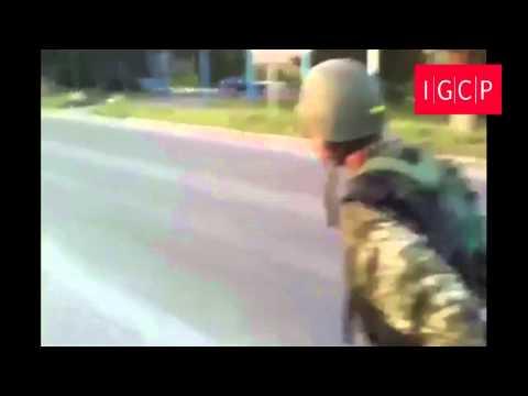IGCP. Обстрел поселка Лутугино украинскими силовиками. (август 2014 г.) 18+